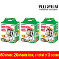 Genuino fuji fujifilm instax mini película 8 60 unids borde blanco foto papeles para polaroid 7 s 8 90 25 55 compartir sp-1 cámara instantánea