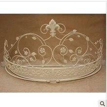 Европейский стиль москитная кровать рамка окрашенное железо Корона покрывало для кровати шторы Холдинг z рамка