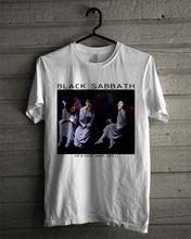 HOT New Black Sabbath Heaven and Hell Album Cover Cotton T-Shirt reprint Men Brand Printed 100% T shirt