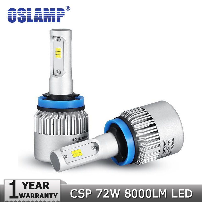 Oslamp H4/H7/H11/H13/9005(HB3)/9006(HB4) 72W 8000lm 6500K LED Car Headlight Bulb Hi-Lo Beam Single Beam Auto Headlamp Fog Light car led headlight bulbs all in one h7 h11 h1 hb3 hb4 9005 9006 55w 8000lm h4 h13 9007 hi lo waterproof high low beam lights