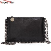 Fashion Woven Chain Bag Shoulder Bag For Women Clutches PU Messenger Bag Small Clutch Purse Bolsa