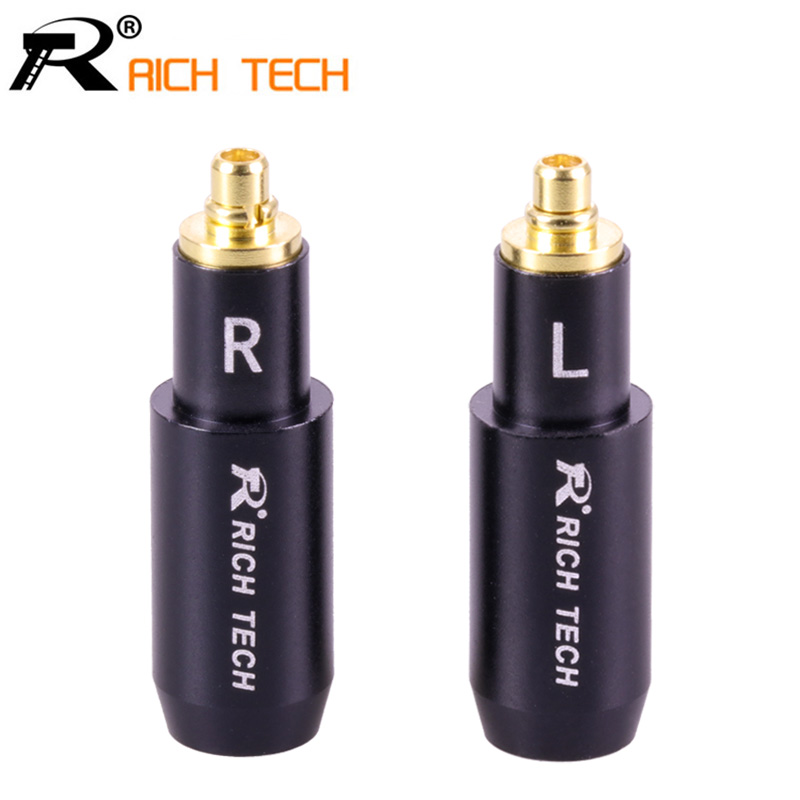 2Pcs/1Pair Enthusiasts Earphone Jack MMCX Male Gold Plated Earphone Pin Plug for Audio-technica ATH ESW750 ESW950 ES770H 990H 3pcs 3 5mm plug audio jack 3pole gold plated earphone adapter for diy stereo headset earphone or used for repair earphone