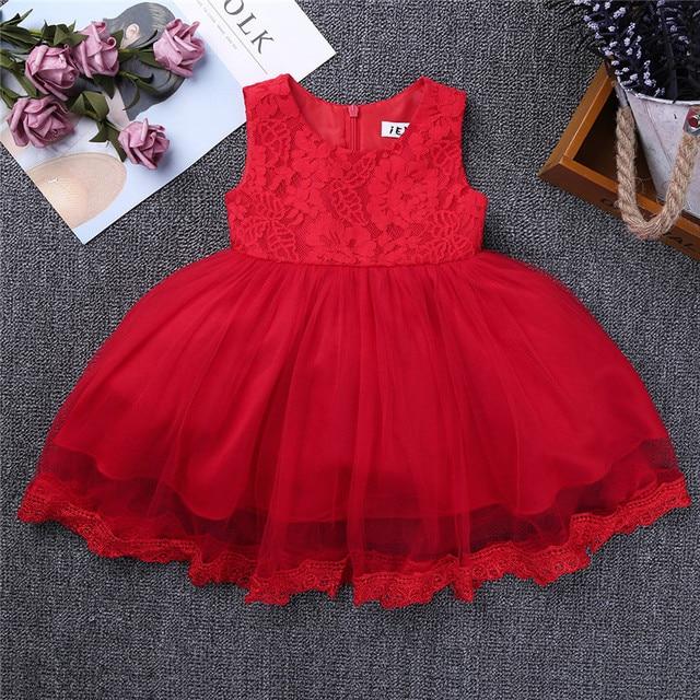 7255cb2c2 Baby One Year 1ST Birthday Dress Newborn Infant Infantil Bebes ...