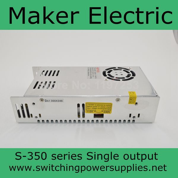 50Watt Output Switching Power Supply 90- 264VAC input 27V/350W output CE and ROHS approved LED lighting transformer S-350-27 real factory best price s 350 5 single output switching power supply ce rohs approved 5v dc output power supply