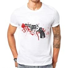 2019 Fashion Nova Men T Shirt Summer Cotton Short Sleeve O Neck Man Tops Tee Shirts Gun 3D Printed T-Shirt Mens Poleras Hombre кольца one day art 101412 o