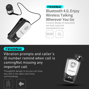 FineBlue F960 Wireless Driver Bluetooth V4.0 with Mic Headphone Call Vibration Remind Noise Canceling Wear Clip Driver Headphone