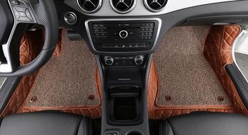 Brown Car Floor Mats Custom Fit For Mercedes Benz gla200 Car Styling Auto Floor Mat Car Accessory Carpet Cover