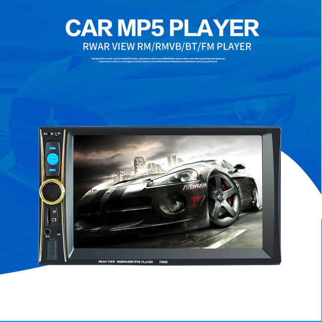 Vehicel 2Din 7inch Bluetooth Car MP5 Car Radio FM/AM/RDS Radio Fast Charge with Rear View Camera Function Car Multimedia Player