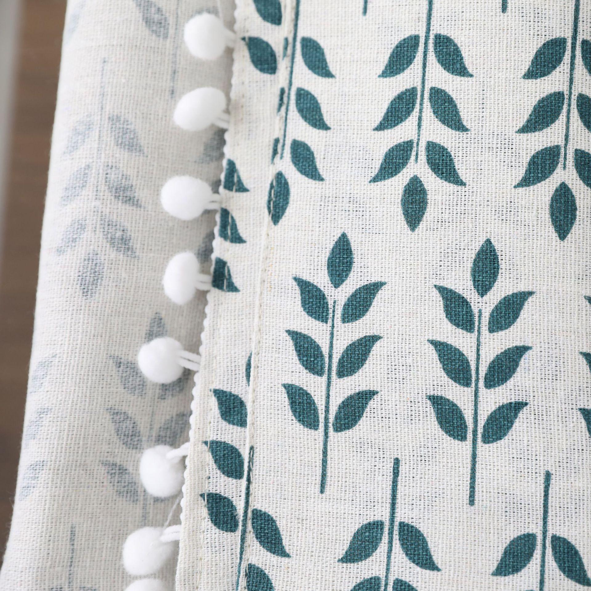 Home Decor Green Wheat Ear Table Cloth with Three Pocket Nappe TV Bench Mantel Rectangular Tea Table Cover Toalha De Mesa