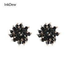Женские серьги гвоздики в форме цветка inkdew винтажные ручной