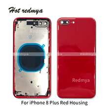 Get more info on the Red 8 Plus Battery Back Cover For iPhone  8 8G Plus 8Plus Back Middle Frame Chassis Full Battery Housing With Buttons+Sim Tray