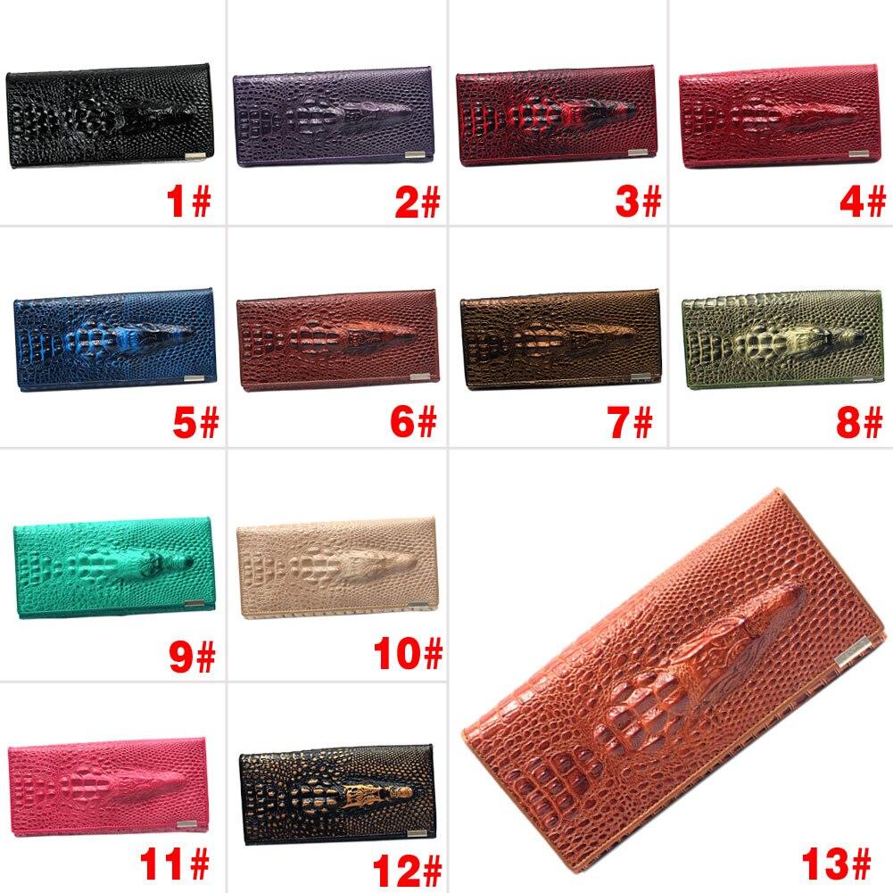 Модные новые женские 3D крокодиловые узоры жесткий чехол тип кошелек сумка Лучшая Продажа WT        АлиЭкспресс