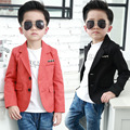 Autumn Boys Casual Blazer Kids Cotton Long Sleeve Jackets for Wedding Children High Quality Outerwear Party Blazer Outfit EB079