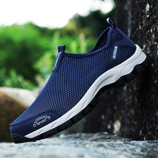 الصيف في الهواء الطلق احذية الجري للرجال أحذية رياضية رياضية الرجال أحذية رياضية الأزرق Zapatillas Hombre Deportiva Krasovki المشي B-200 1