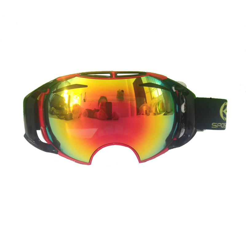 ФОТО Professional Snowboard Ski Goggles Double Lens Anti-fog Snowboard Goggles Snowing Men Woman Ski Goggles Glears