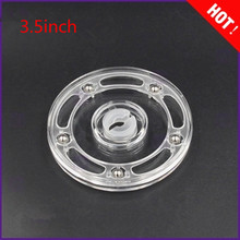Diameter: 3.5 inch Transparent Acrylic rotary  Lazy Susans turntable display rack rotating base swivel plate