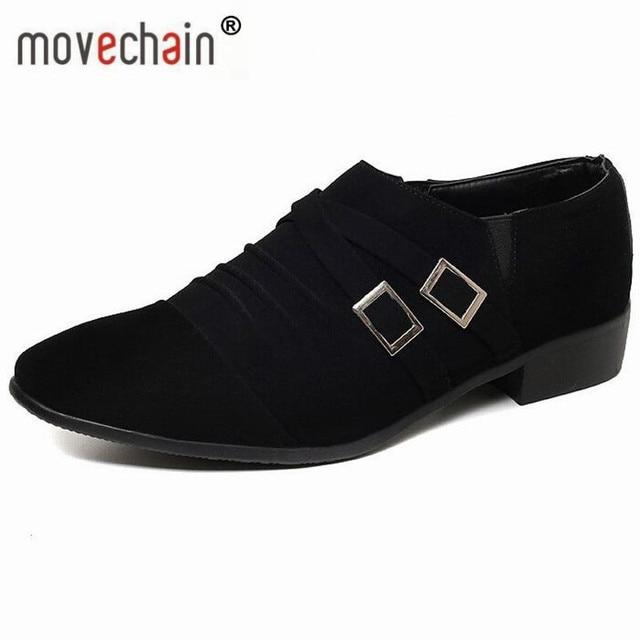 Movechain Mode männer Leder Slip On Kleid Business Schuhe Mann ...