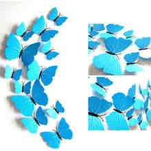12PCS/Lot PVC 3D Accessories For Kitchen Modern Butterfly Stickers Wall Home Wedding Decor Kids Bedroom Decor Y40(China)