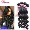 7A Brazilian Virgin Hair 3 Bundles Brazilian Loose Wave Virgin Hair Unprocessed Human Hair Weave Soft Brazilian Human Hair Weave
