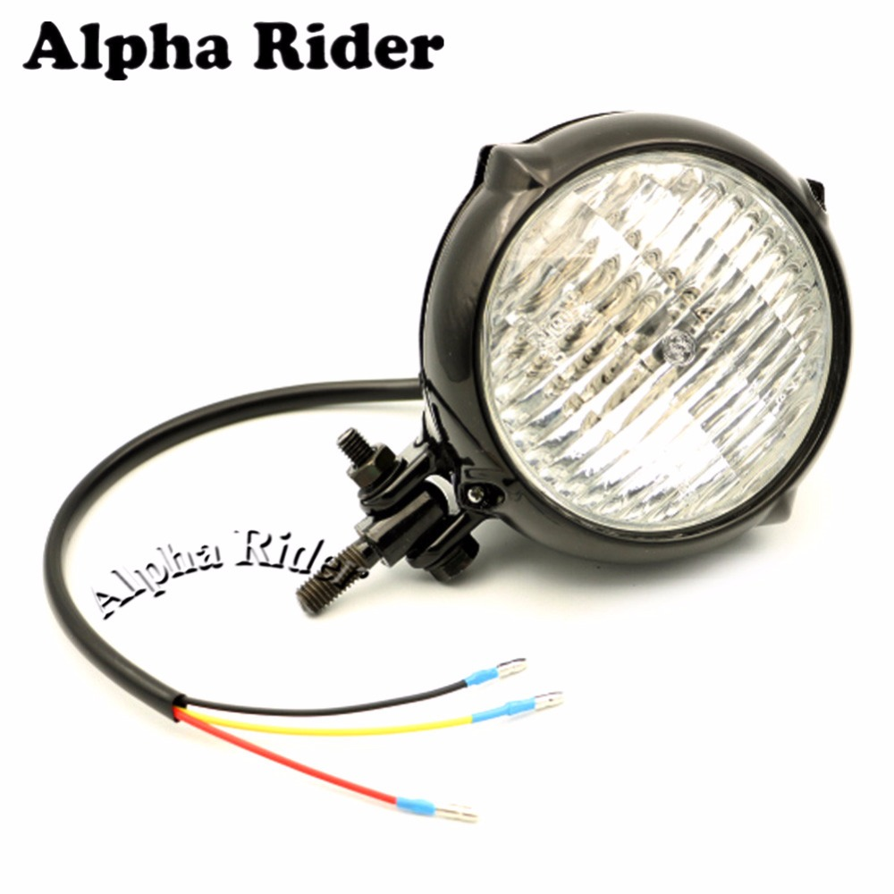 12V Vintage Antique Style High and Low Beam 35W Motorcycle Headlight Front Lamp