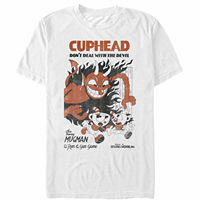 Cuphead Retro Devil Deal Mens Graphic T Shirtsummer o neck tee, free shipping cheap tee,2019 hot tees