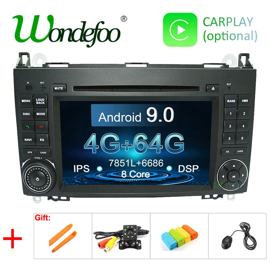 DSP Android 9 0 64G IPS 2 din DVD PLAYER For Benz Sprinter B200 W209 W169