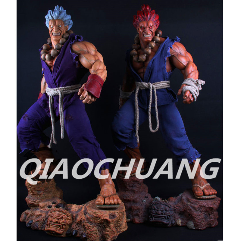 Street Fighter Statue Akuma 1:3 Bust GOUKI Full-Length Portrait Resin Action Figure Collectible Model Toy RETAIL BOX W246 super street fighter iv akuma gouki white variant play arts kai action figure