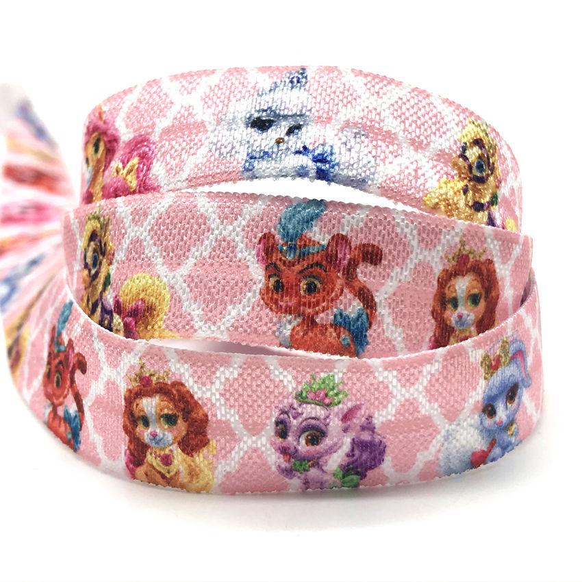 3 metres 10 mm wide foe fold over elastic soft shiny headbands crafts hot pink
