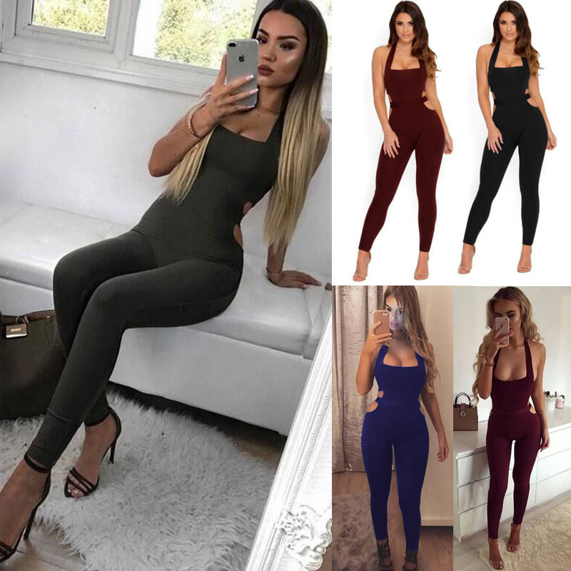 Women Tight Sexy Backless One-piece Sportswear Yoga Sets Leggings Gym Fitness Clothing Suit for Woman Running Jumpsuits