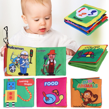 6 Patterns Baby Toy Soft Cloth Books Rustle Sound Infant Educational Stroller Rattle Toy Newborn Crib