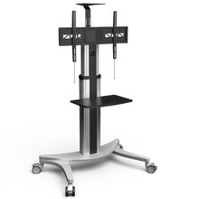 High-End Mobile TV Carts Floor Stand for LCD LED Plasma Flat Panels Stand with Wheels Mobile Fit for 32''-70', Max Support 45KG