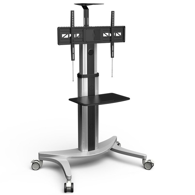 High End Mobile Tv Carts Floor Stand For Lcd Led Plasma Flat Panels