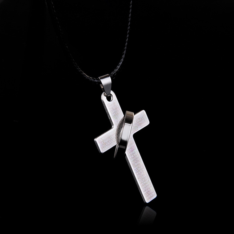 2017 New Collier Collares Korean Version Of The Sale Of Crossbow English Alphabet Necklace Simple Wild Stainless Steel Pendant