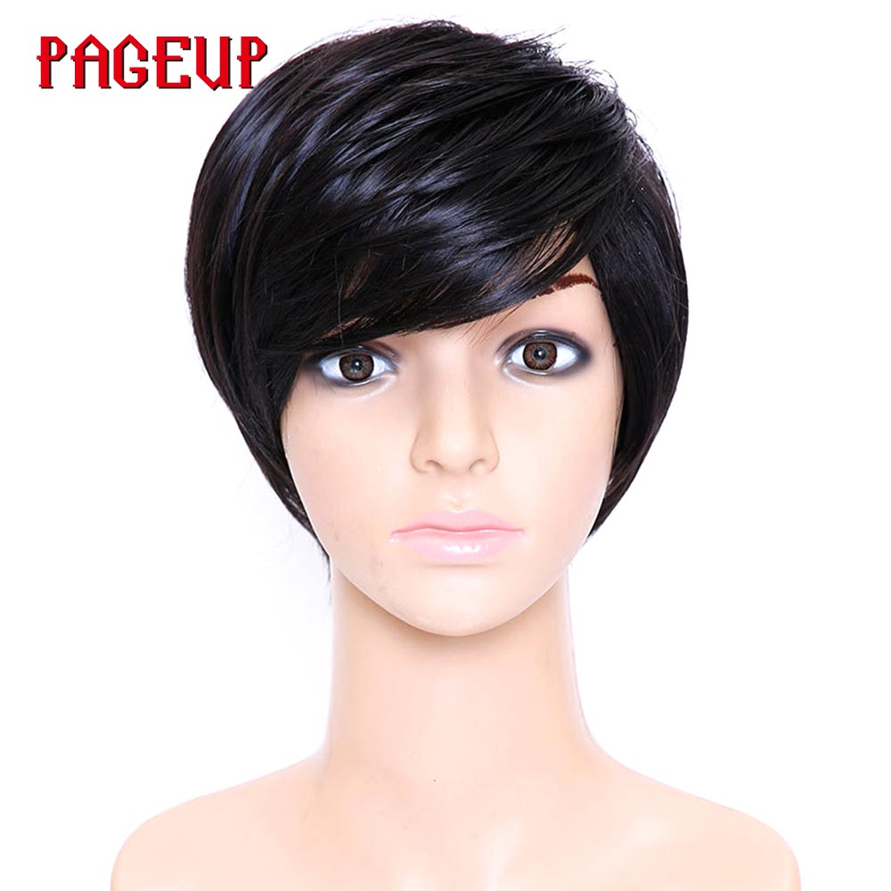 Pageup Hair Short Synthetic Wigs For Women Short Wig Women Heat Resistant Fiber Female Wig Natural Fake Hair