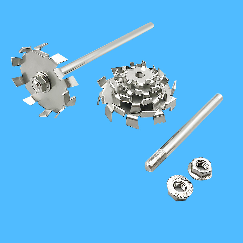 Laboratory 304 Stainless Steel Stir Bar Saw Tooth Type Stirrer Dispersion Disk,round Plate Dispersing Propeller Stirring Blade