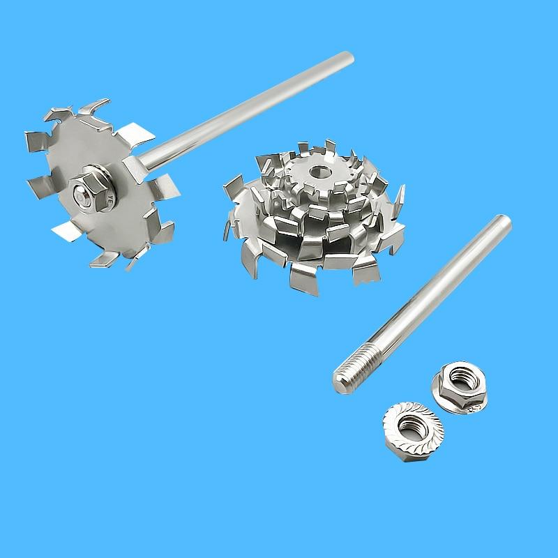 Laboratory 304 Stainless Steel Stir Bar Saw Tooth Type Stirrer Dispersion Disk,round Plate Dispersing Propeller Stirring Blade