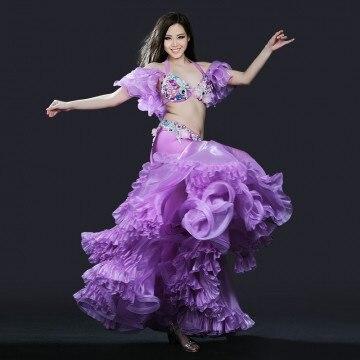 2018 nouveau livraison gratuite nouveau Design haut de gamme haute qualité ensemble de danse du ventre/Costume/vêtements de danse du ventre/robe jupe de danse du ventre
