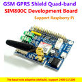 SIM800C Shield Development Board For Instead Of SIM900 Module GPRS GSM 4 Frequency Available,Support Raspberry Pi