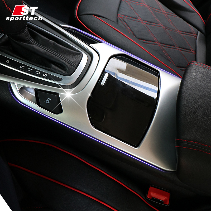 Car Styling Water Cup Frame Trim For Ford Edge ABS Chromium Styling Gear Shift Cover Sticker For Ford Edge 2015-2018 Accessories car trunk trim strip for ford edge abs chromium styling car boot cover 3d stickers cover for ford edge 2015 2016 accessories
