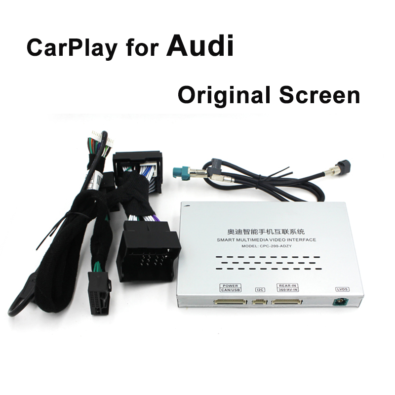 Video Interface with Apple Carplay Android Aut for A1 A3 Q3 A4 A6 A5 B9 Q5 Q7 Original Screen Upgrade MMI system Carplay AirPlay
