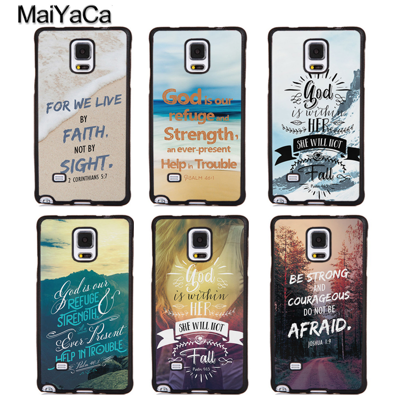 MaiYaCa Bible Verses Design Quotes Soft Rubber Phone Cases OEM For Samsung Galaxy S5 S6 S7 edge plus S8 S9 plus Note 4 5 8 Cover
