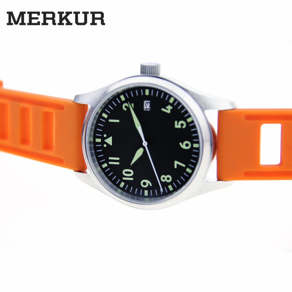Small 39MM Pilot  Watch 200m Diver Watch  Japan NH35 Automatic Mens  watch Diver watch  Type A movement Super LumiNova B-UHRSmall 39MM Pilot  Watch 200m Diver Watch  Japan NH35 Automatic Mens  watch Diver watch  Type A movement Super LumiNova B-UHR