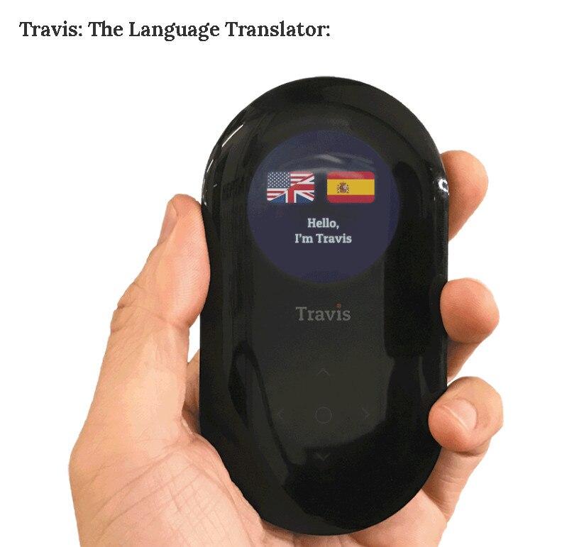 Travis the Translator Two Way Translator voice translator 80 language interpreter online offline instant translation