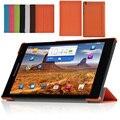 Cas 3-pasta de Couro Tampa Do Suporte de luxo de Alta Qualidade Para Lenovo Tab S8 S8-508 S8-50F S8-50LC 8 polegada Tablet de Alta Qualidade casos