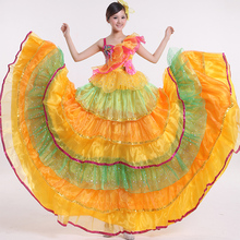 Full-skirted Dress Opening Dance Costumes Female New Dance Dress Modern Dance Performance Dress Dance Clothing with Headgear
