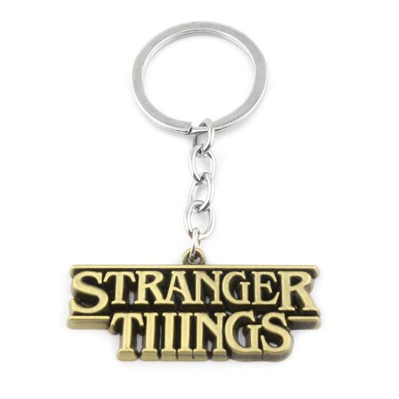Us 13 59 8 Off 10pcs Lot Sc Horror Tv Series Stranger Things Letter Logo Key Chains 3 Colors Letter Pendant Car Keychain For Men Jewelry Gift In Key