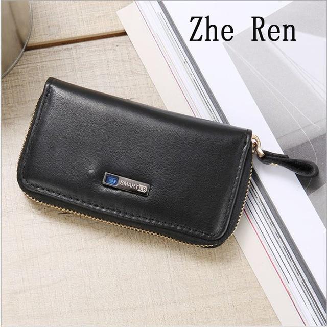 35c6f8403e93 Men real leather money wallet Head layer cowhide intelligent bluetooth anti  - loss anti - theft fashion key bag