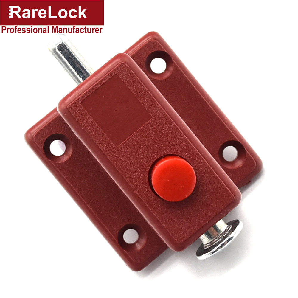 Rarelock Christmas Supplies 2pcs Latch Thumb Lock For Door Window Cabinet Box Cupboard Locker Home Bolt DIY Furniture Hardware g ...