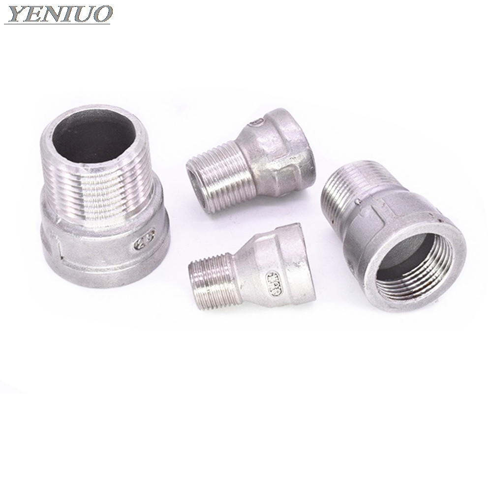 """1//8/""""-1/"""" BSP Euqal female Thread 304 Stainless Steel Round Pipe Fitting Connector"""