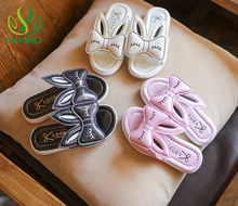 2017 Summer 3-7 year old children slippers girls cute little princess slippery soft bottom rabbit cool slippers 26-30